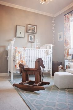 Love the wood rocking horse
