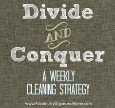 divide and conquer: cleaning your home by zone - Simply Fabulous Living