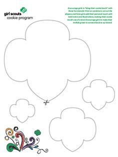 Girl Scout Promise Trefoil Cookie clip art! trefoil