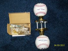 Baseball Doorknob made with a genuine Rawlings baseball by hugg57
