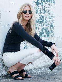 . #birkenstocks #black #white #fashion