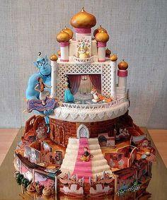 disney movies, dream cake, cake wrecks, aladdin cake, art