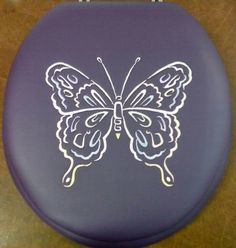 CloudSoft brand by World Wide Manufacturing Company - Saint Augustine, Florida USA . BathBeautiful.com . Embroidered Large Butterfly on Purple