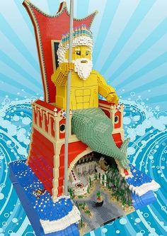 LEGO Poseidon #lego #legostatue #legomodel #legoariel #legomermaid
