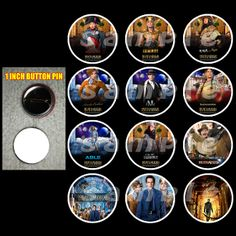"NIGHT OF THE MUSEUM 1"" BUTTONS"