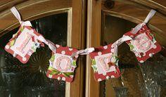 Stampin' Up!  Love Banner  Krystal De Leeuw  Valentine's Day