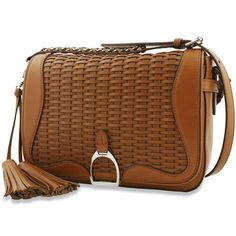 Ralph Lauren Collection equestrian themed handbag, featuring an iconic stirrup