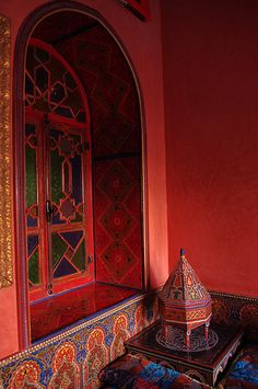Moroccan Riad with red walls