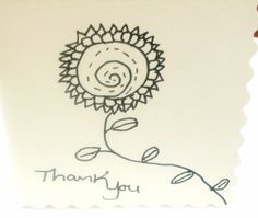 Two  Thank you Handmade Cards