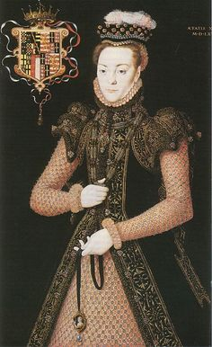 Ruffs were often colored during starching process, vegetable dyes were used to give the ruff a yellow, pink or mauve tint.  1565 Margaret Clifford, Countess of Derby, or A Lady of the Wentworth Family, by Hans Eworth. [Elizabethan]