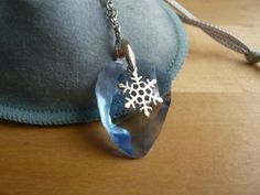Ice crystal necklace  blue swarovski crystal with by TaliaJewelry, $22.00