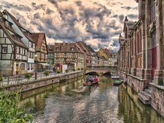 Colmar - France Situated along the Alsatian wine route in northeastern France