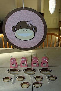 idea, baby shower decorations, bbi shower, futur babi, babi stuff, alyssa babi, monkey, babi shower, baby showers