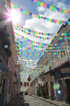 Colourful streets of Salvador, Brazil.