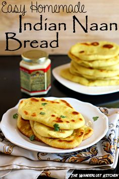 Finally - a recipe for Easy Homemade Indian Naan Bread that's actually worth the effort! It's so much easier than I thought it would be!