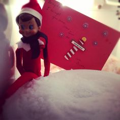 300+ Elf on the Shelf Photos  So nice of Buddy to bring us snow!