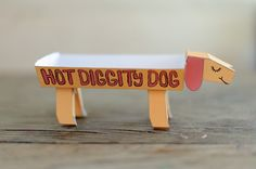 Free Printable Hot Diggity Dog Hot Dog Holders by Handmade Charlotte for French's #NaturallyAmazing