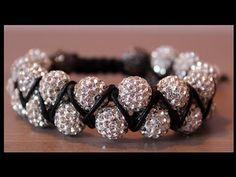 DIY Double beaded shamballa bracelet - YouTube