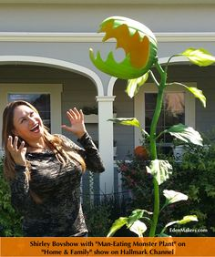 """One of the easiest Halloween crafts I've ever made has to be the """"Man Eating Monster Plant"""" I presented on the Home & Family show recently. This Halloween plant craft is re..."""