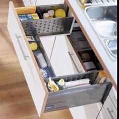 Drawer around sink