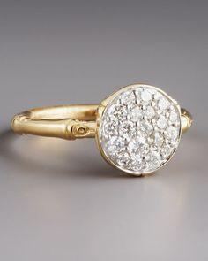 John Hardy Pave Diamond Ring
