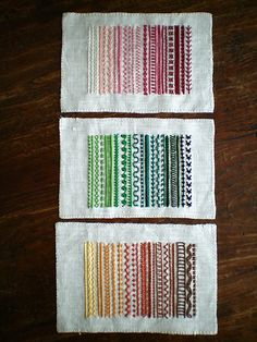 contemporary stitch samplers