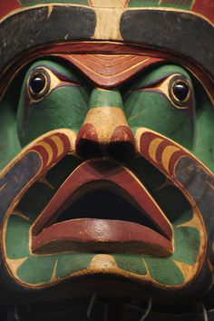 Haida mask, Canada. Exhibition at National Museum of American Indian.