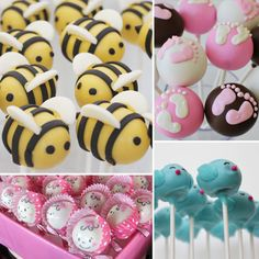 Cute ideas for Cake Pops for Baby Shower!