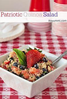 Patriotic Quinoa Salad from ItsYummi.com for #KickOffToSummerWeek2014