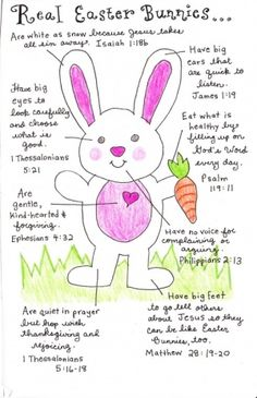 Cute Bible-based easter Bunny
