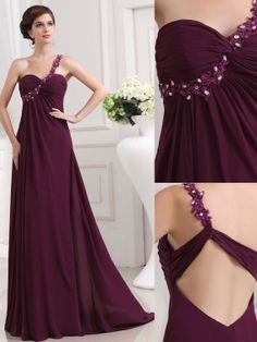 Pretty purple prom Dress/cute Prom girl formal dress/one shoulder prom gowns/unique design long prom dresses/party dress/evening gown on Etsy, $136.00
