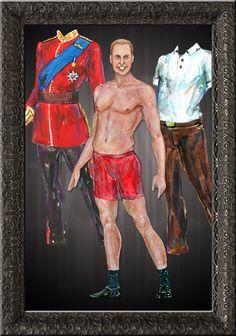 Free download - Royal Wedding Prince William, Duke of Cambridge, Paper Doll by Ryan Jude Novelline ♕ ❤❦♪♫