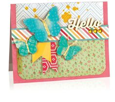 Scrapbook & Cards Today - Project: Trend - Hello by Vicki Boutin