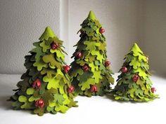 DIY Creative Handmade Felt Trees from Template | iCreativeIdeas.com Follow Us on Facebook --> https://www.facebook.com/iCreativeIdeas