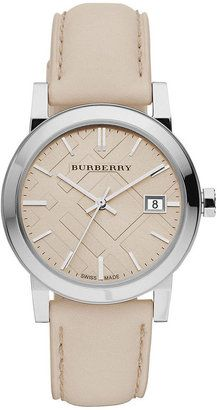 Burberry Watch, Women's Swiss Smooth Trench Leather