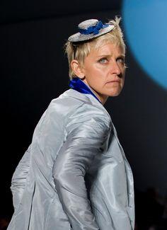 Ellen DeGeneres: Runway model?