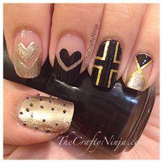 Cross Heart Nails