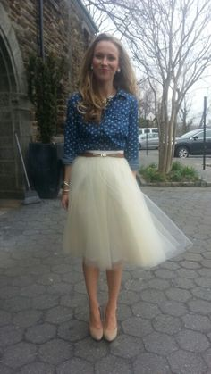Dreamy ethereal tulle skirt!