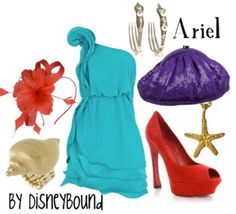 . disney movies, disney bound outfits, ariel, disney princesses, disney inspired, dress, party outfits, the little mermaid, inspired outfits