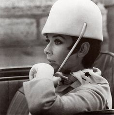 Audrey in Givenchy driving gear from How To Steal A Million, 1966