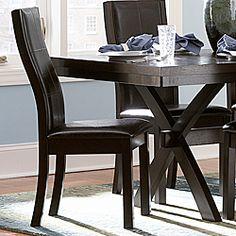 ETHAN HOME Dartford Dark Espresso Side Chairs (Set of 2)  $150