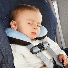This is the perfect pillow for slumping babies.  The center back of it is not padded so the baby can still recline his head.  Nifty!