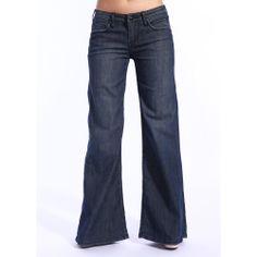Stitch's Women's Crow Dark Wash Wide Leg Jeans   Overstock.com