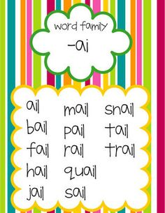 Long Vowel Word Family Posters