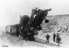 """""""You win some, lose some, and wreck some."""" """"Collision between two engines, Bay of Quinte Railway, ON, 1892"""" Musée McCord Museum"""