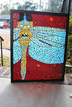 #Mosaic Stained Glass Dragonfly.