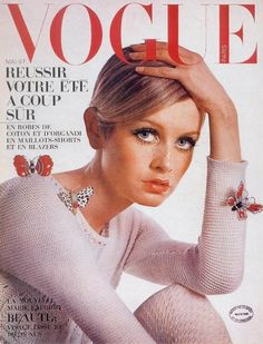 Vintage Vogue cover featuring Twiggy