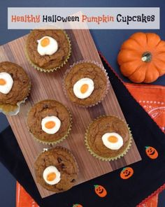 healthy pumpkin cupcakes from @Amelia May Makeover Moms