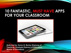 Getting Started: Must Have Apps for the Classroom