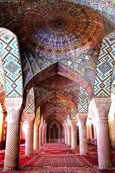 """Nasir ol-molk Mosque"", Shiraz, Iran built from 1876-1888. (photography by Hanif Shaoei)"